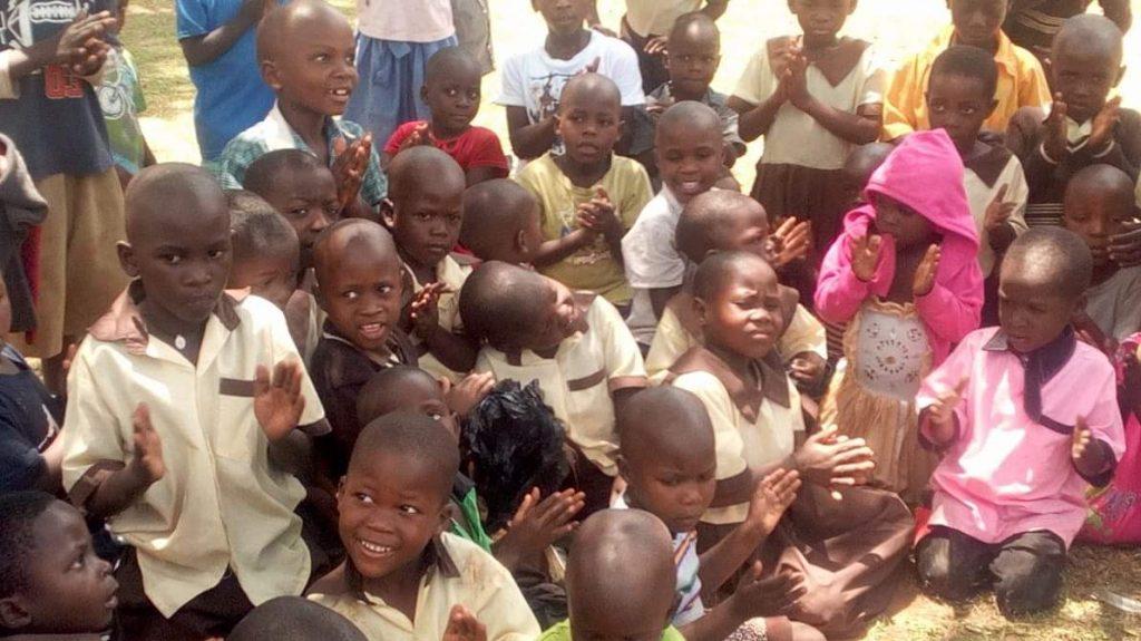 Children Sitting Outside