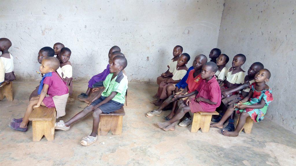 Children Sitting Inside